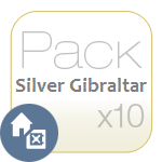 Pack Silver Gibraltar x10
