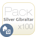 Pack Silver Gibraltar x100