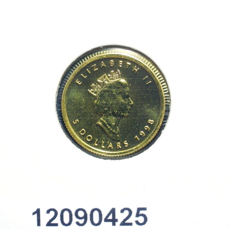 Réf. 12090425 Maple Leaf 1/10 once 5 Dollars Canada Elizabeth II - 9999 - AVERS