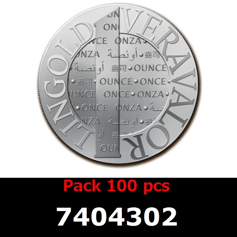 Réf. 7404302 Lot 100 Vera Silver 1 once (LSP - 40MM)  2014 - AVERS