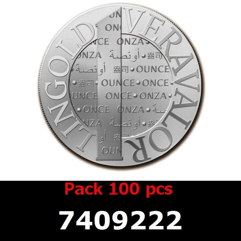 Réf. 7409222 Lot 100 Vera Silver 1 once (LSP - 40MM)  2014 - AVERS