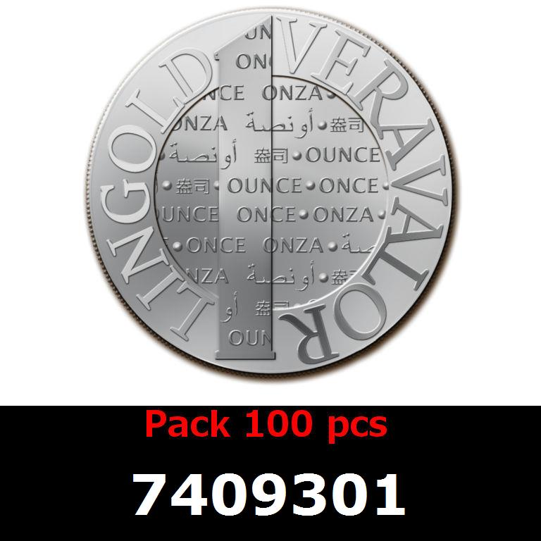 Réf. 7409301 Lot 100 Vera Silver 1 once (LSP - 40MM)  2014 - AVERS