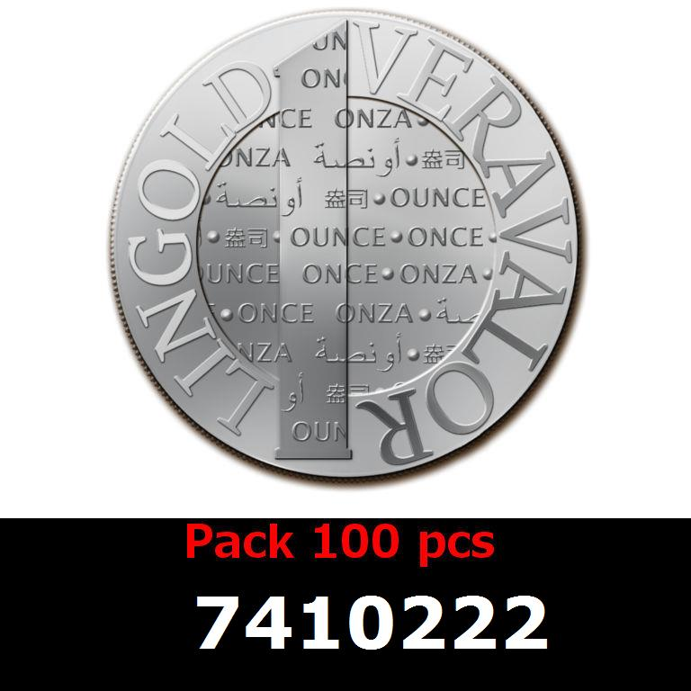 Réf. 7410222 Lot 100 Vera Silver 1 once (LSP - 40MM)  2014 - AVERS