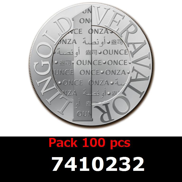 Réf. 7410232 Lot 100 Vera Silver 1 once (LSP - 40MM)  2014 - AVERS