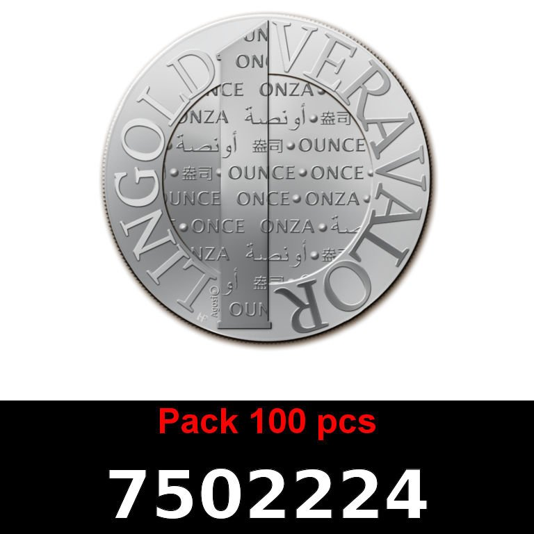 Réf. 7502224 Lot 100 Vera Silver 1 once (LSP - 40MM)  2015 - AVERS
