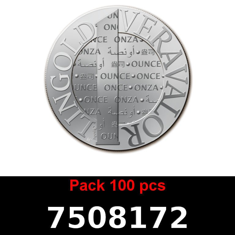 Réf. 7508172 Lot 100 Vera Silver 1 once (LSP - 40MM)  2015 - AVERS