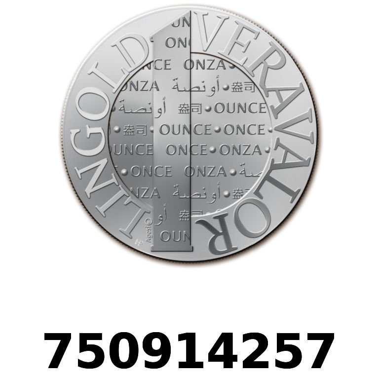 Réf. 750914257 Vera Silver 1 once (LSP)  2015 - AVERS