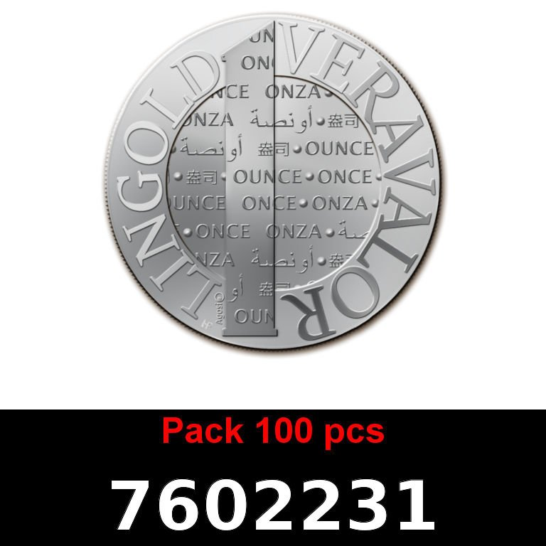 Réf. 7602231 Lot 100 Vera Silver 1 once (LSP - 40MM)  2015 - AVERS