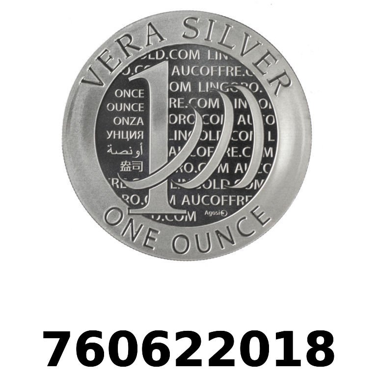 Réf. 760622018 Vera Silver 1 once (LSP)  2015 - AVERS
