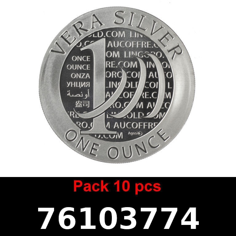 Réf. 76103774 Lot 10 Vera Silver 1 once (LSP)  2015 - 2eme type - AVERS