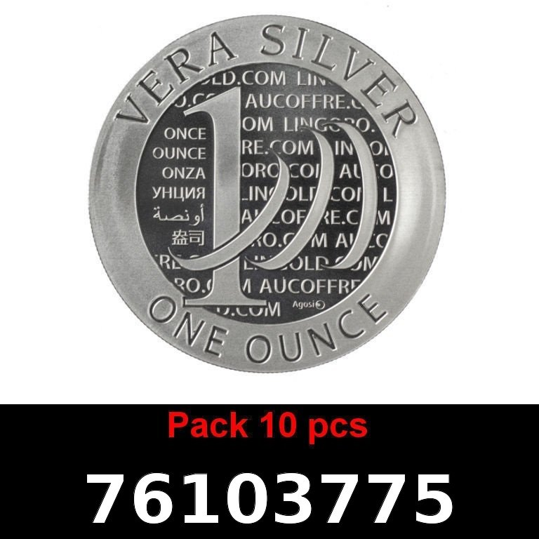 Réf. 76103775 Lot 10 Vera Silver 1 once (LSP)  2015 - 2eme type - AVERS