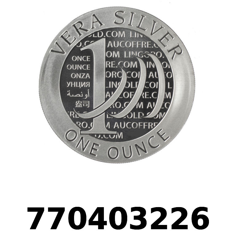 Réf. 770403226 Vera Silver 1 once (LSP)  2015 - 2eme type - AVERS