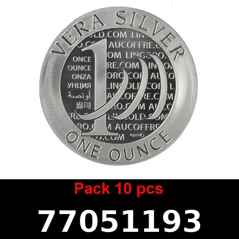 Réf. 77051193 Lot 10 Vera Silver 1 once (LSP)  2015 - 2eme type - AVERS