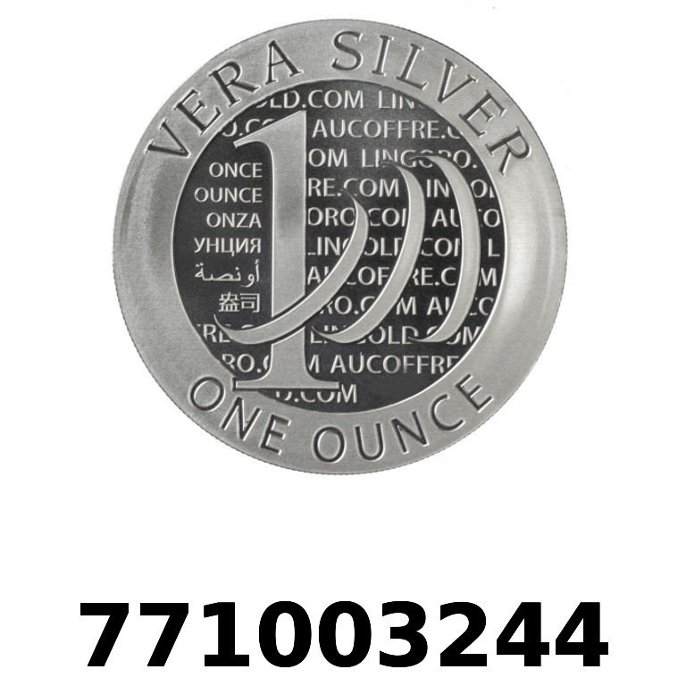 Réf. 771003244 Vera Silver 1 once (LSP - 40MM)  2015 - 2eme type - AVERS