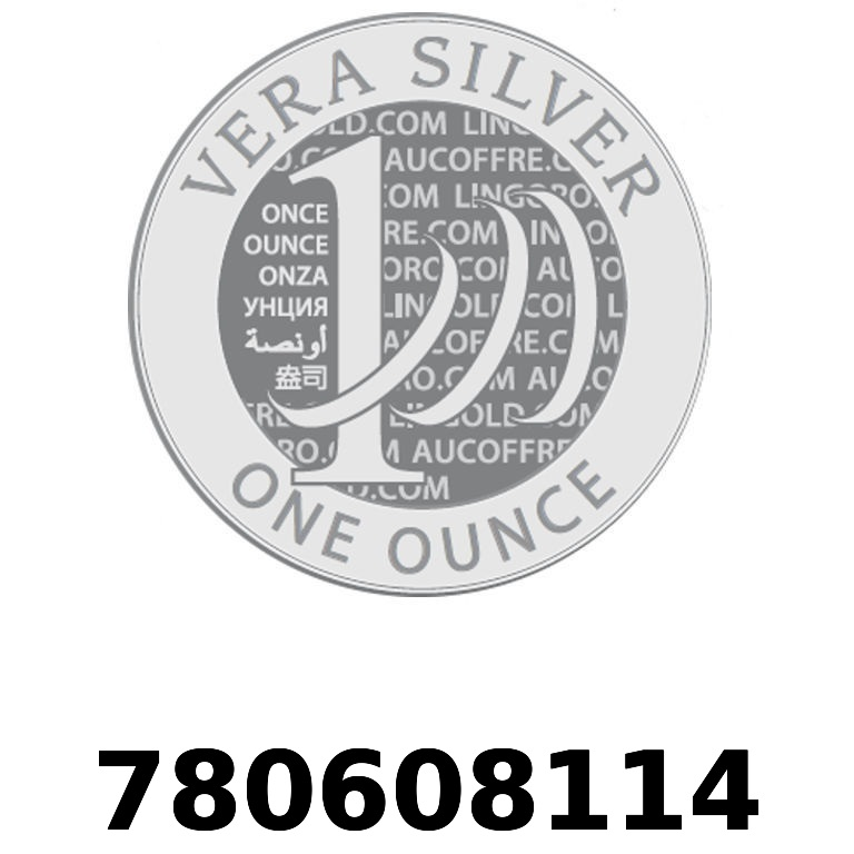 Réf. 780608114 Vera Silver 1 once (LSP)  2018 - AVERS