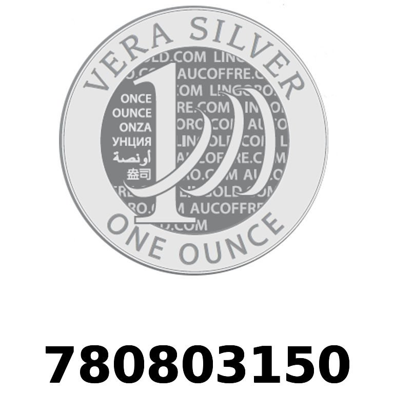 Réf. 780803150 Vera Silver 1 once (LSP)  2018 - AVERS
