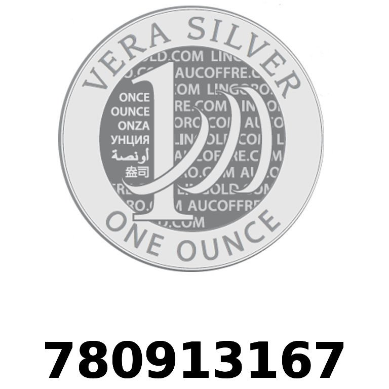 Réf. 780913167 Vera Silver 1 once (LSP)  2018 - AVERS