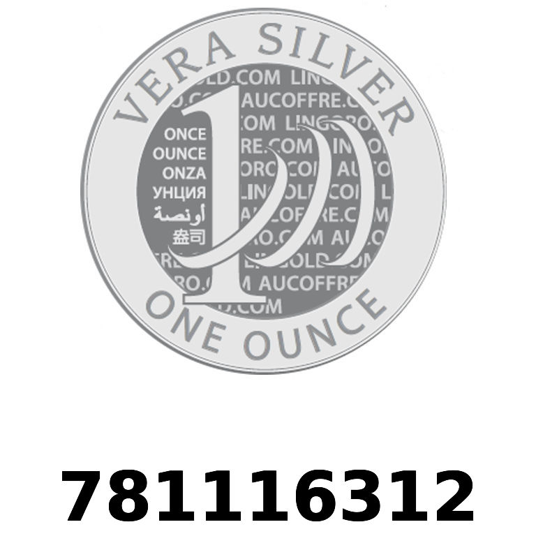 Réf. 781116312 Vera Silver 1 once (LSP)  2018 - AVERS