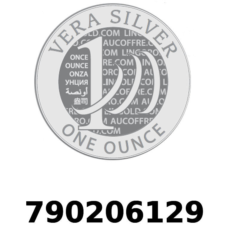 Réf. 790206129 Vera Silver 1 once (LSP)  2018 - AVERS