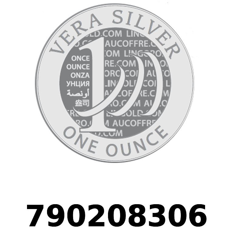 Réf. 790208306 Vera Silver 1 once (LSP)  2018 - AVERS