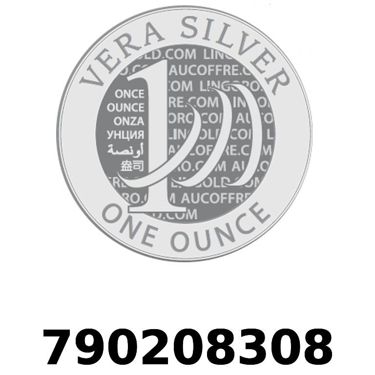 Réf. 790208308 Vera Silver 1 once (LSP)  2018 - AVERS