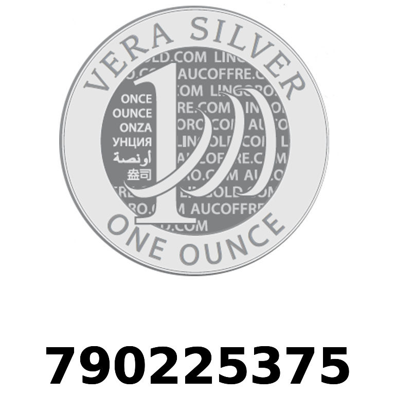 Réf. 790225375 Vera Silver 1 once (LSP)  2018 - AVERS