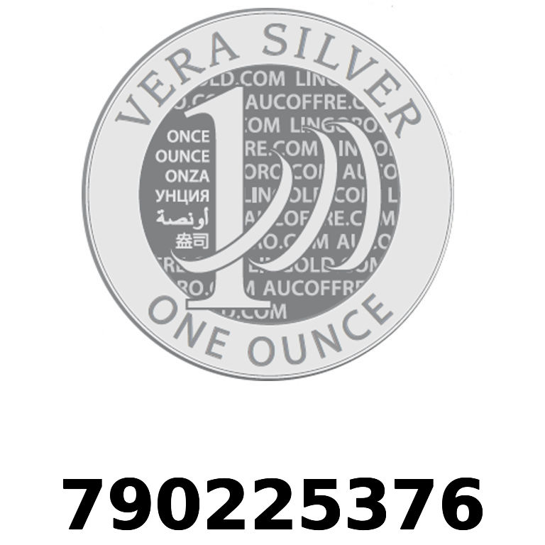 Réf. 790225376 Vera Silver 1 once (LSP)  2018 - AVERS