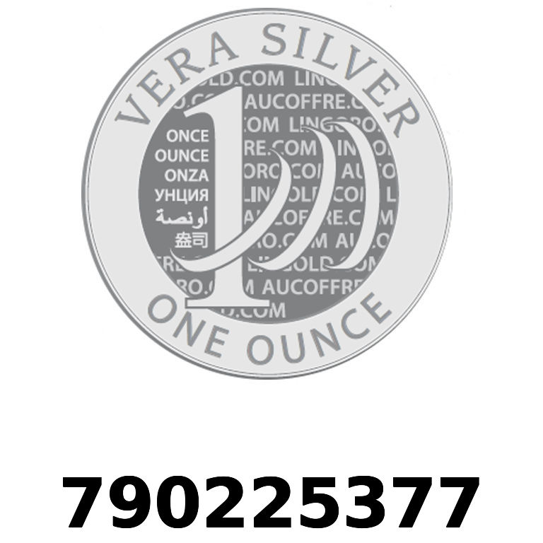 Réf. 790225377 Vera Silver 1 once (LSP)  2018 - AVERS