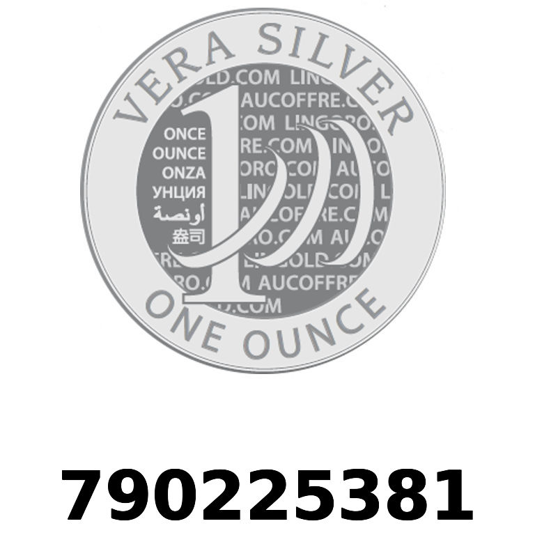 Réf. 790225381 Vera Silver 1 once (LSP)  2018 - AVERS