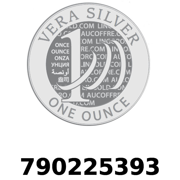 Réf. 790225393 Vera Silver 1 once (LSP)  2018 - AVERS
