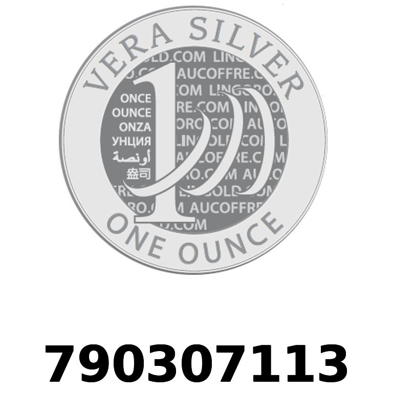 Réf. 790307113 Vera Silver 1 once (LSP)  2018 - AVERS