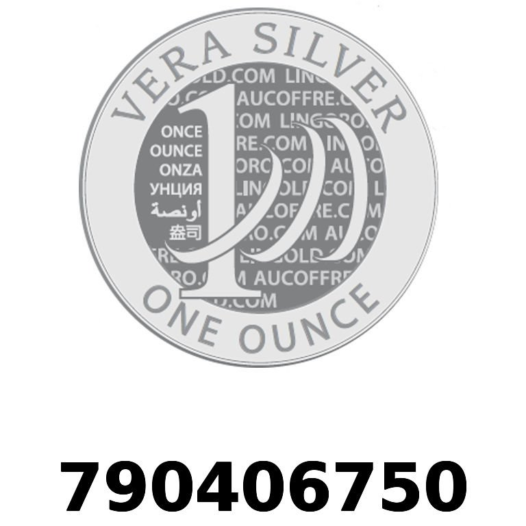 Réf. 790406750 Vera Silver 1 once (LSP)  2018 - AVERS