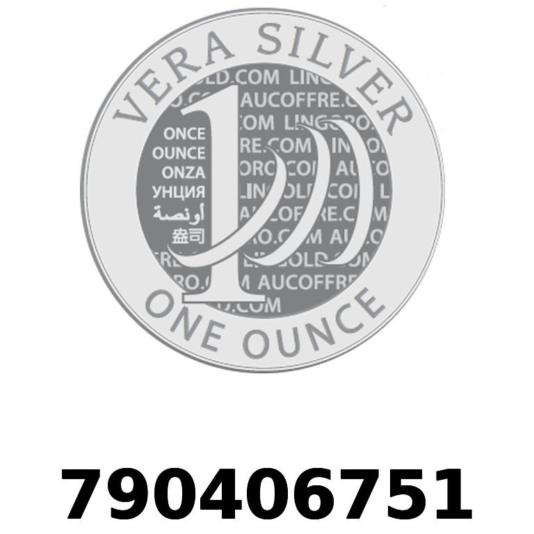 Réf. 790406751 Vera Silver 1 once (LSP)  2018 - AVERS