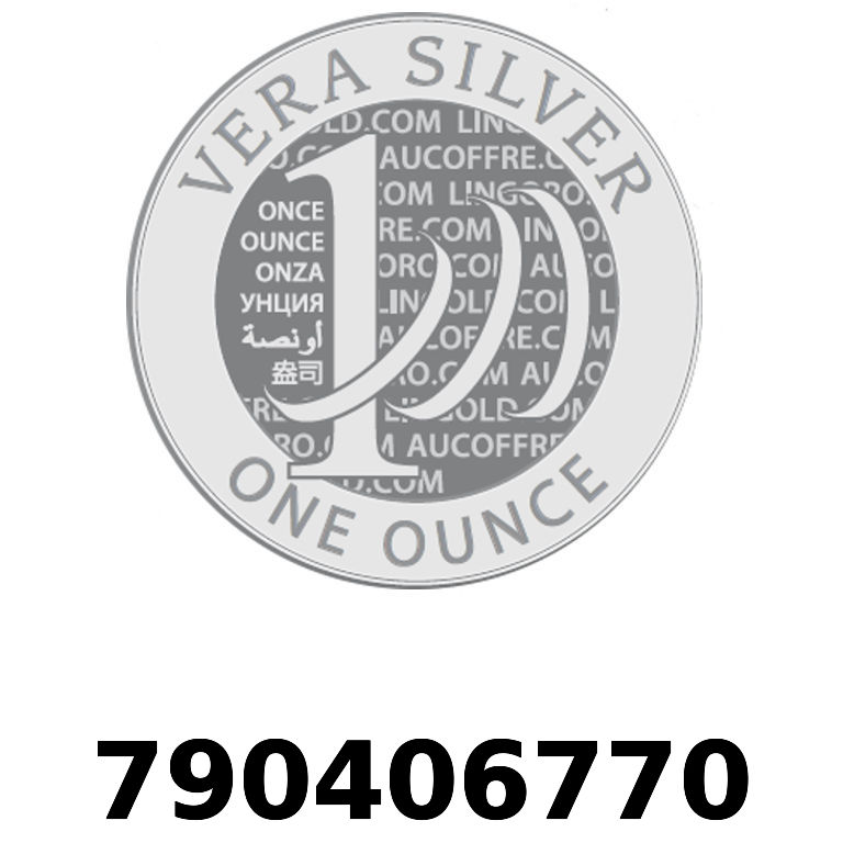 Réf. 790406770 Vera Silver 1 once (LSP)  2018 - AVERS
