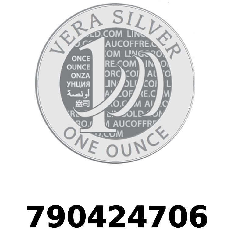 Réf. 790424706 Vera Silver 1 once (LSP)  2018 - AVERS