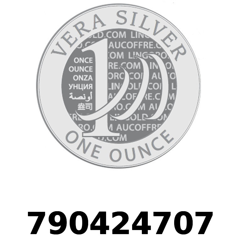 Réf. 790424707 Vera Silver 1 once (LSP)  2018 - AVERS