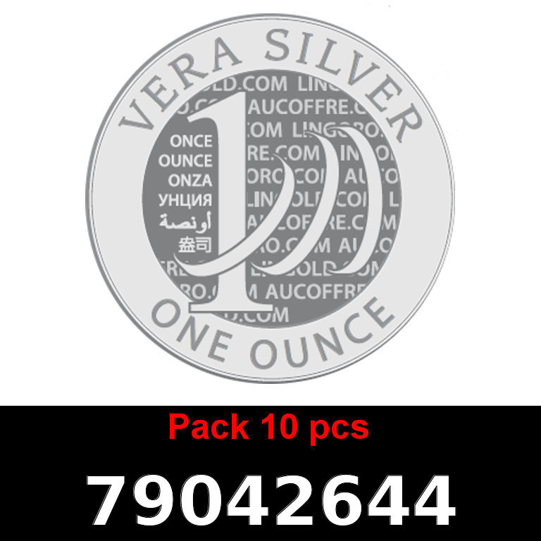 Réf. 79042644 Lot 10 Vera Silver 1 once (LSP - 40MM)  2018 - AVERS
