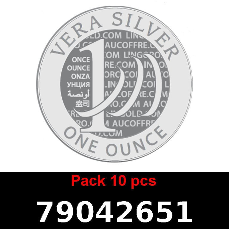 Réf. 79042651 Lot 10 Vera Silver 1 once (LSP)  2018 - AVERS