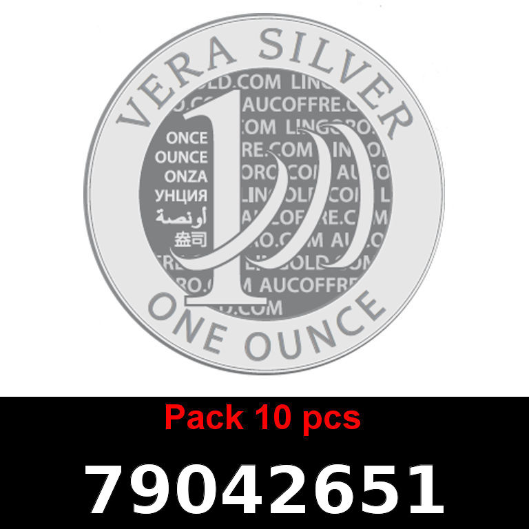 Réf. 79042651 Lot 10 Vera Silver 1 once (LSP - 40MM)  2018 - AVERS