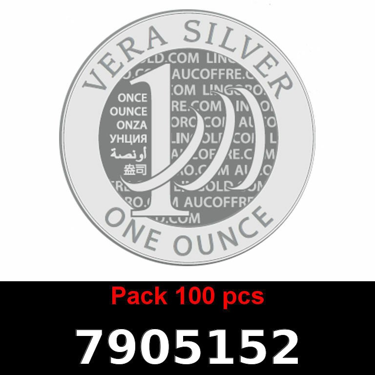 Réf. 7905152 Lot 100 Vera Silver 1 once (LSP - 40MM)  2018 - AVERS