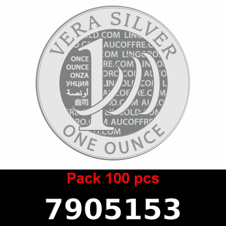 Réf. 7905153 Lot 100 Vera Silver 1 once (LSP - 40MM)  2018 - AVERS