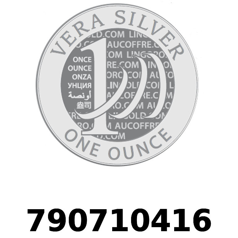 Réf. 790710416 Vera Silver 1 once (LSP - 40MM)  2018 - AVERS
