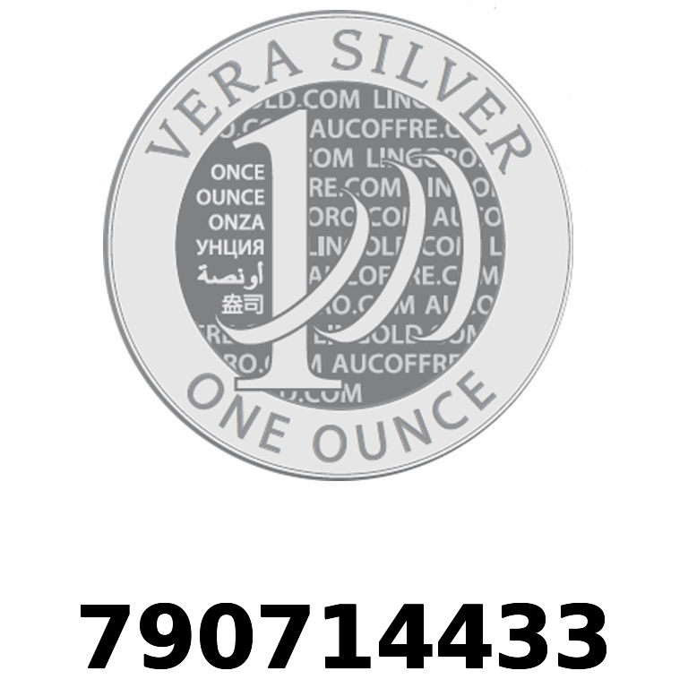 Réf. 790714433 Vera Silver 1 once (LSP)  2018 - AVERS