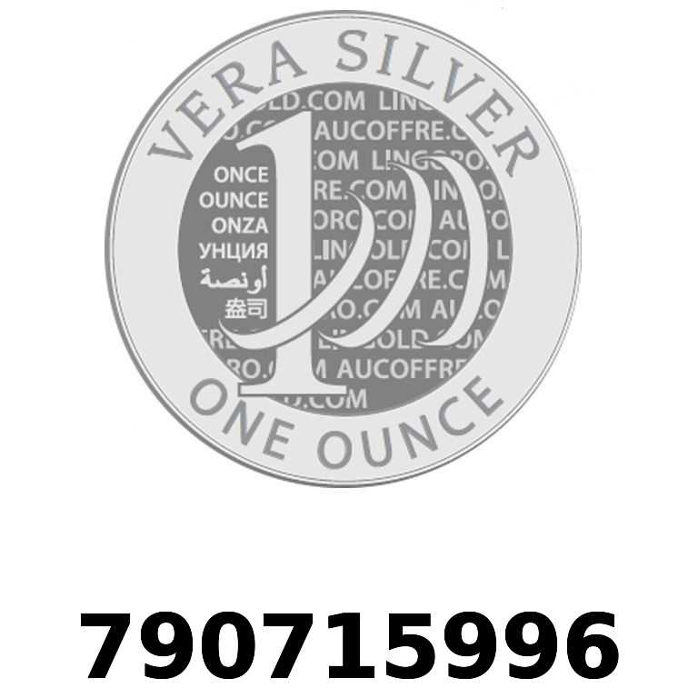 Réf. 790715996 Vera Silver 1 once (LSP)  2018 - AVERS