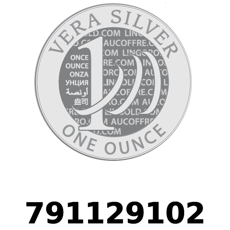 Réf. 791129102 Vera Silver 1 once (LSP)  2018 - AVERS