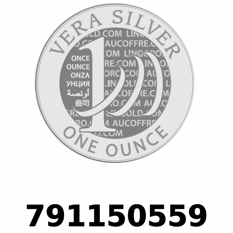 Réf. 791150559 Vera Silver 1 once (LSP)  2018 - AVERS