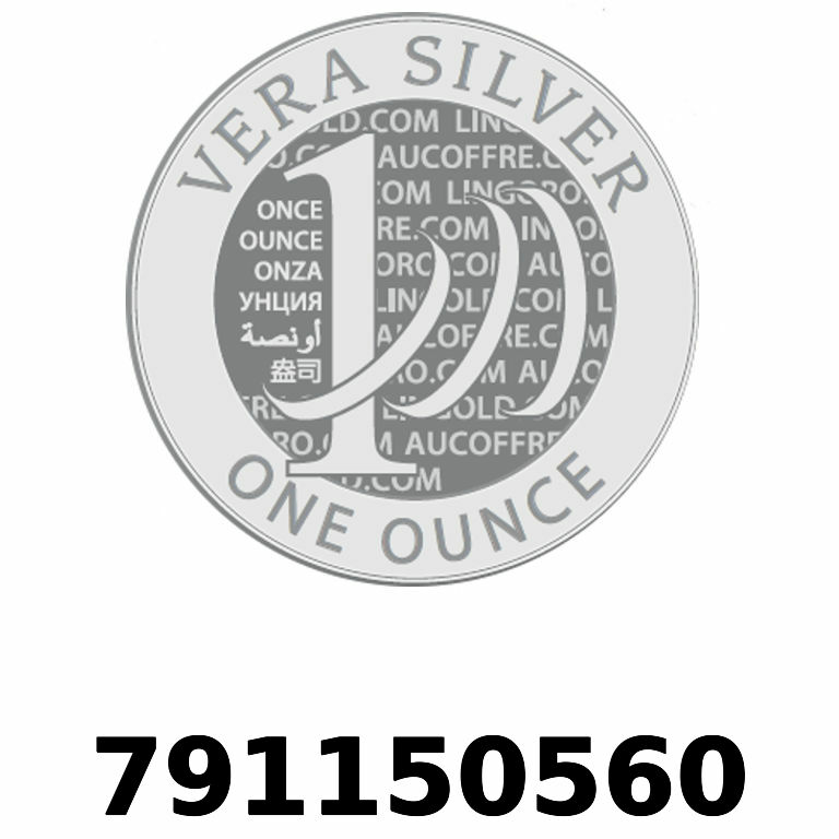 Réf. 791150560 Vera Silver 1 once (LSP)  2018 - AVERS