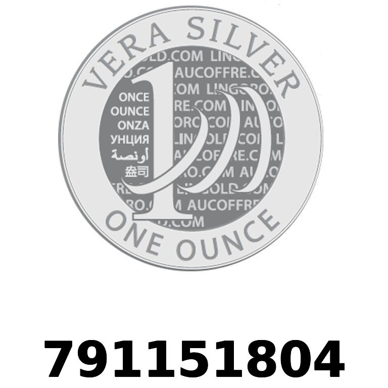 Réf. 791151804 Vera Silver 1 once (LSP)  2018 - AVERS