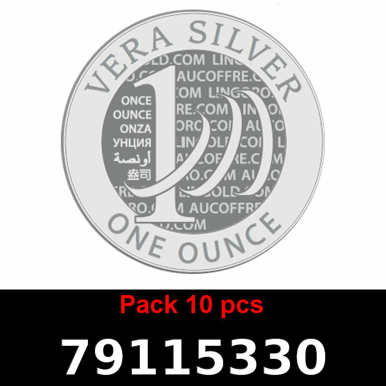 Réf. 79115330 Lot 10 Vera Silver 1 once (LSP)  2018 - AVERS