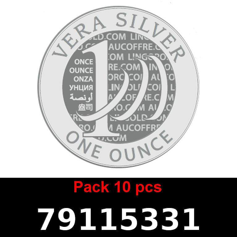 Réf. 79115331 Lot 10 Vera Silver 1 once (LSP)  2018 - AVERS